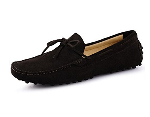 HAPPYSHOP TM Mens Loafers Shoes Casual Suede Comfort Slip on Tassel Loafer Driving Shoes EUR 38 Brown B00I5CN4CG