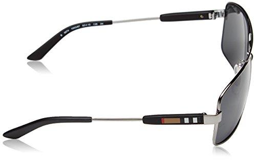 2d92b0b00b0d Amazon.com  Burberry Sunglasses BE 3074 100387 Gunmetal 63mm  Burberry   Shoes