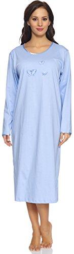 Donna Lunga Merry Camicia Da manica Style 91lw1 Blu Notte RI4qIvwS
