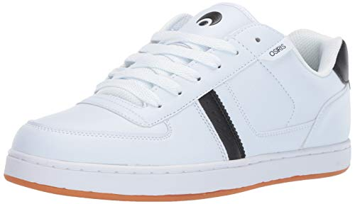 Osiris Men's Relic Skate Shoe White/Black/Gum 11 M US (White Shoes Osiris)