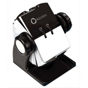 Rotary Business Card File, Black Qty:4