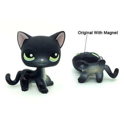 Amazon.com: Littlest Pet Shop negro corto pelo gato #336 LPS ...