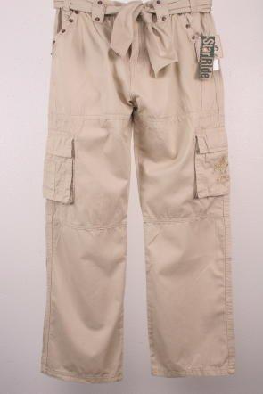 8eaca9b8ec7 Amazon.com  Plus Size Girls Tan Khaki Star Ride Pants-8 Plus  Clothing