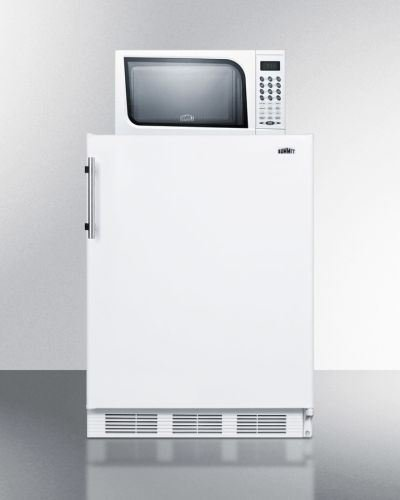 Summit Refrigerator/Microwave Stacked Combo with Single Plug Model MRF661