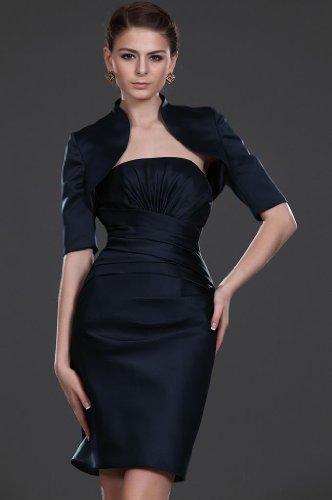 Damen Kurz Dunkelmarineblau Dearta Etui Mini Kleidungen Traegerlos Linie Abendkleider Charmeuse 7TTwBdAq