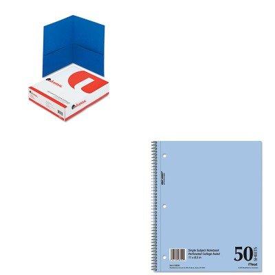 KITMEA06552UNV56601 - Value Kit - Mead Mid Tier Single Subject Notebook (MEA06552) and Universal Two-Pocket Portfolio (UNV56601) (Single Portfolios Pocket)