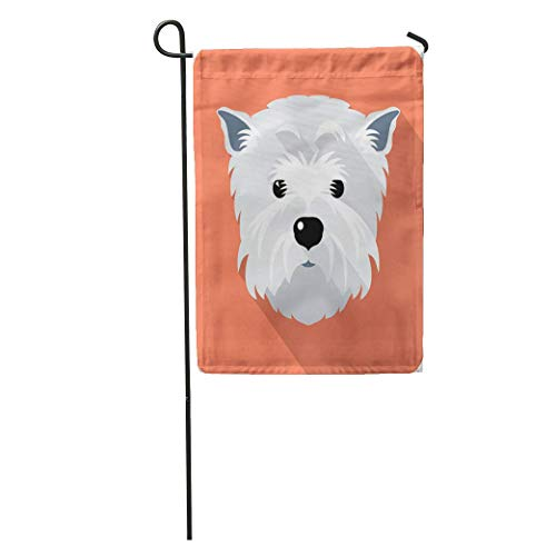 jiebokejiHFGD Garden Flag Westie Dog West Highland White Terrier Face Flat Funny Silhouette Home Yard House Decor Barnner Outdoor Stand 12x18 Inches Flag