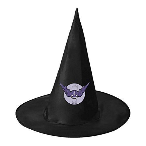 Unisex Purple Horns Adult Halloween Witch Cosplay Hat Magician Stage props (Jazz Props)