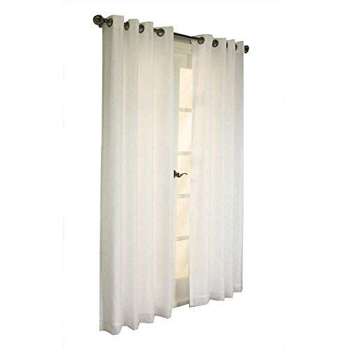 Commonwealth Home Fashions Thermavoile Rhapsody Lined European Voile 104 X 84 Grommet Panel White