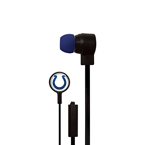 NFL Indianapolis Colts Big Logo Earbuds, Small, Black (Indianapolis Colts Earbuds)