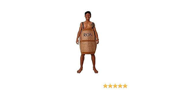 Costumizate! Disfraz de Barril de Ron Adulto Especial para Fiestas de Disfraces y Carnaval Talla Unica