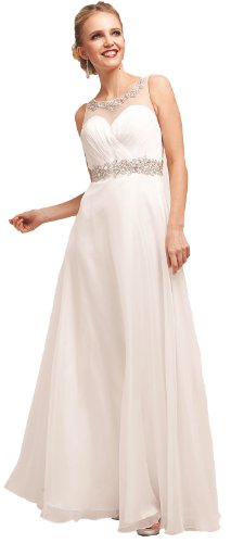 Meier Women's Offwhite Halter Wedding Prom Evening Party Dress-8