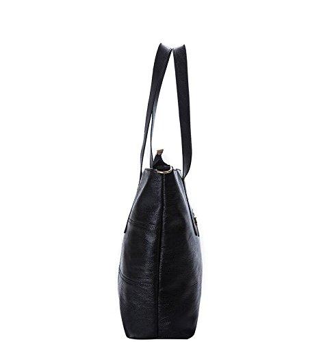 Large Double Capacity Bag match Ladies Meaeo Black Shoulder All Violetabolso Korean xTCZIqp