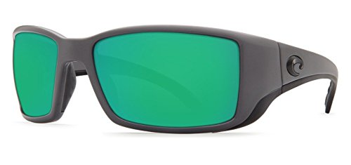 Costa Del Mar Blackfin Sunglasses Matte Gray/Green Mirror - Blackfin Costa