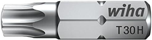 "1//4/"" 01728 T15H Wiha Bit Standard 25 mm TORX® Tamper Resistant mit Bohrung"