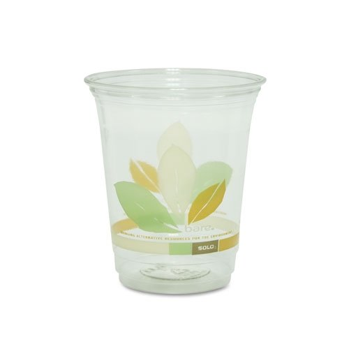 Dart RTP12BARE 12 oz Bare Printed Clear RPET Plastic Cup (Case of -