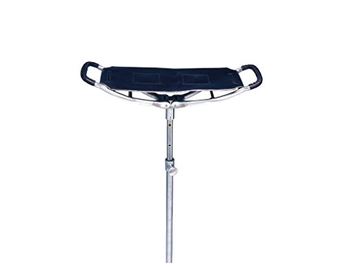Tough 1 Spectator Seat Stick, Black - Stool Folding Cane