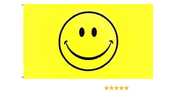 Amazon Com Happy Face Flag Smile Banner Smiley Face Pennant Sign New Indoor Outdoor 4x6 Ft Home Kitchen