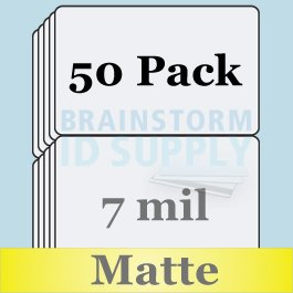 7 Mil Matte Butterfly Pouch Laminates - 50 Pack