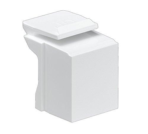Leviton 41084-BW Blank Quickport Insert, 10-Pack, White (Renewed)