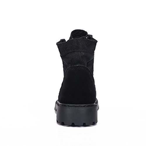 Mens Casual Suede Lace-up Outdoor Bergbeklimmen Sneakers Werkschoenen Militaire Tactische Woestijnlaarzen Zwart