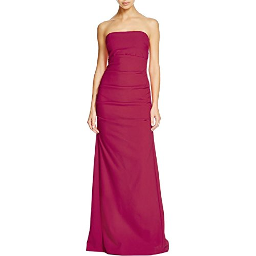 Nicole Miller Womens Ruched Prom Evening Dress Pink 12