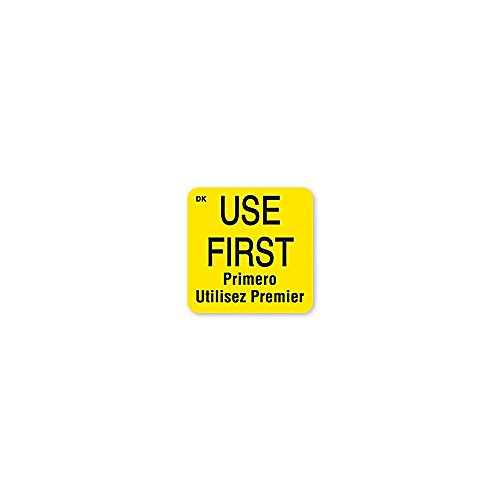 DayMark 110083 DuraMark Square 1'' Use First Label - 1000 / RL by DayMark Safety Systems