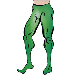 Green Costume Tights (Green Men's Costume Tights)