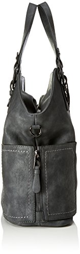 Sansibar Damen Shopper Bag Henkeltasche, 16x35x40 cm Grau (Dim Grey)