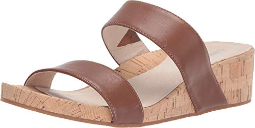 Kenneth Cole New York Women's Gia Low Wedge Slide Sandal, Medium Brown 8 M US