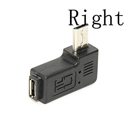 Cable Length Left and Right Computer Cables Micro USB 2.0 5Pin Male to Female M to F Extension Connector Adapter 9mm Long Plug Connector 90 Degree Right /& Left Angled