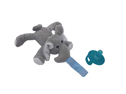 LuLu Pal Baby Pacifier Holder | Soft Plush Newborn Toys | Stuffed Animals for Infants and Kids | Soother | (Ellie Elephant)
