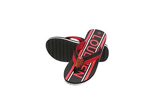 HomyWolf Mens Beach Flip-Flops, Soft Non-Slip Slipper Outdoor Sandals, Black, Size US 7.5 by HomyWolf (Image #3)