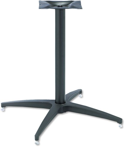 - Iceberg ICE65045 OfficeWorks Round Deluxe Aluminum Table Base, Black - Table Top Sold Separately