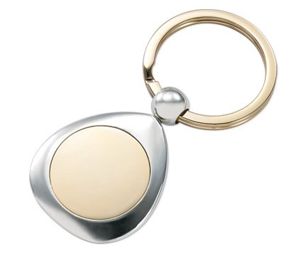Aeropen International K-75 2 Tone Round Center Key Ring (Center Tone Round)
