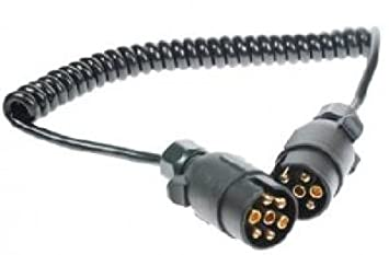 1.5m Trailer Light Electric Extension Cable Male To Female 7 Pin Plug To Socket