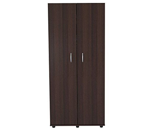 (Inval America 2-Door Armoire with Clothing Storage)