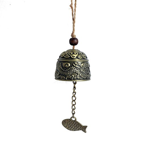 (Feng Shui Dragon/Fish Bell Good Luck Fortune Hanging Charm W Fengshuisale Red String Bracelet SKU:W1718)