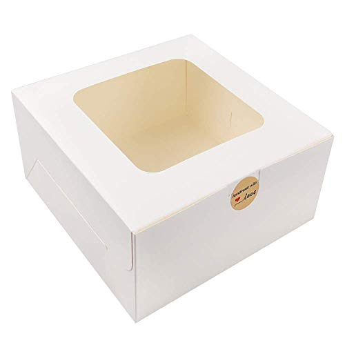 Moretoes 24pcs 10x10x5 Inches Wh...