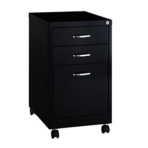 BBF SOHO Pedestal 19-inch Deep 3-drawer Office File Cabinet, Black - Bbf Pedestal
