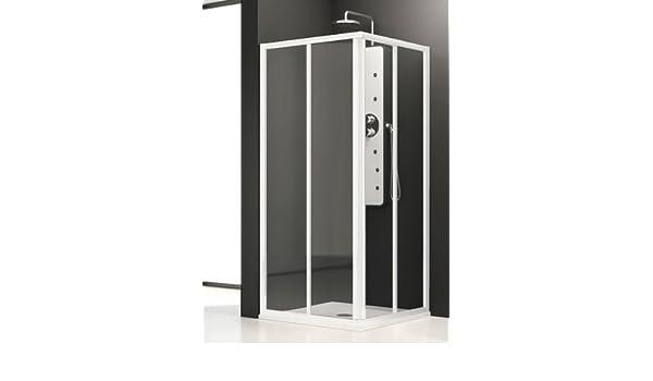 Mampara de ducha Aurum de acceso de ángulo con botonera ...