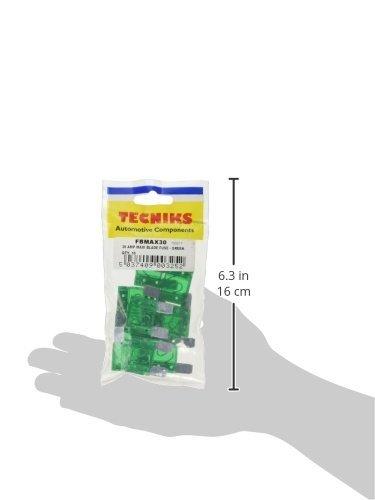 Teckniks FBMAX30 Maxi-Flachsicherung 30 A 10 St/ück Gr/ün