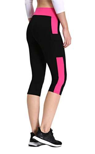 Neonysweets-Womens-Capris-Exercise-Gym-Running-Yoga-Pants-Phone-Pockets