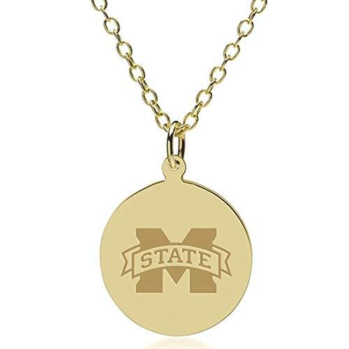 M. LA HART Mississippi State 14K Gold Pendant & Chain
