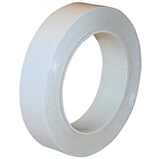 PVC Cleanroom Tape from StaticTek | Clean Plastic Core | Strong Synthetic Rubber Adhesive | White | 1 Inch X 36 Yard…