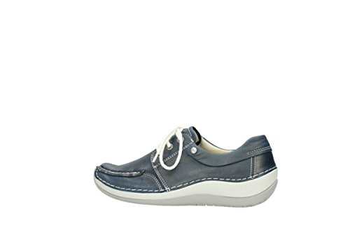 80870 Leather Blue Jewel Wolky Comfort 6TqxYzg