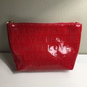 Yves Saint Laurent YSL beaute Red cosmetic bag Only