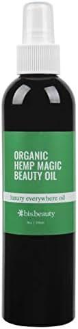 Magic All-Purpose Skincare Beauty Oil-100% Organic Hemp Seed Oil-Hydrate/Repair for Face, Body, Hair, Nails