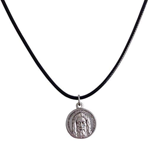 (The Holy Face Shroud of Jesus Christ Medal with String Cord - Real Italian Masterpiece)