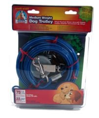 Medium Weight Trolley Tie Out Cable Size: 75 Feet